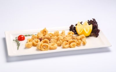 Breaded deep-fried calamari  Breaded deep-fried calamari Calamar pane 400x250