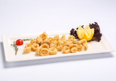 Breaded deep-fried calamari  Breaded deep-fried calamari Calamar pane 400x280