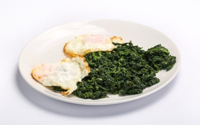 SPINACH AND FRIED EGGS  SPINACH AND FRIED EGGS Spanac cu oua 400x250