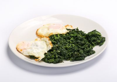 SPINACH AND FRIED EGGS  SPINACH AND FRIED EGGS Spanac cu oua 400x280