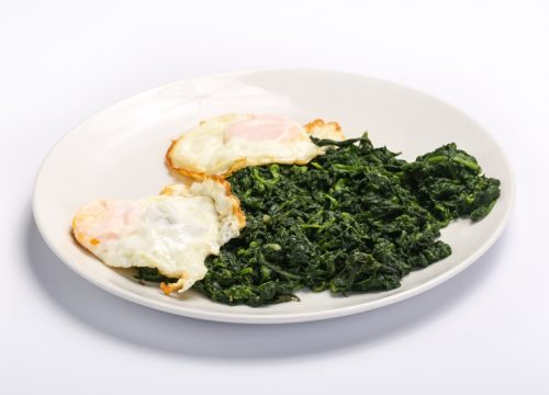 SPINACH AND FRIED EGGS  SPINACH AND FRIED EGGS Spanac cu oua 500x360