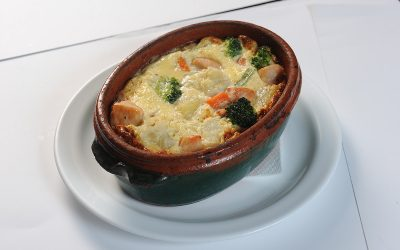 Chicken-with-gratinated-vegetables  Chicken with gratinated vegetables Carne de pui cu legume gratinate 400x250