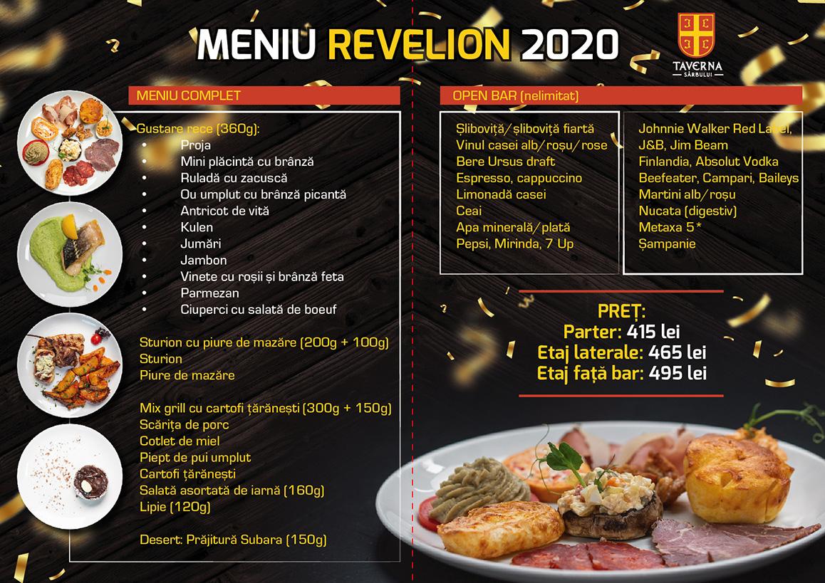Revelion 2020 pliant revelion 2 2020 taverna sarbului