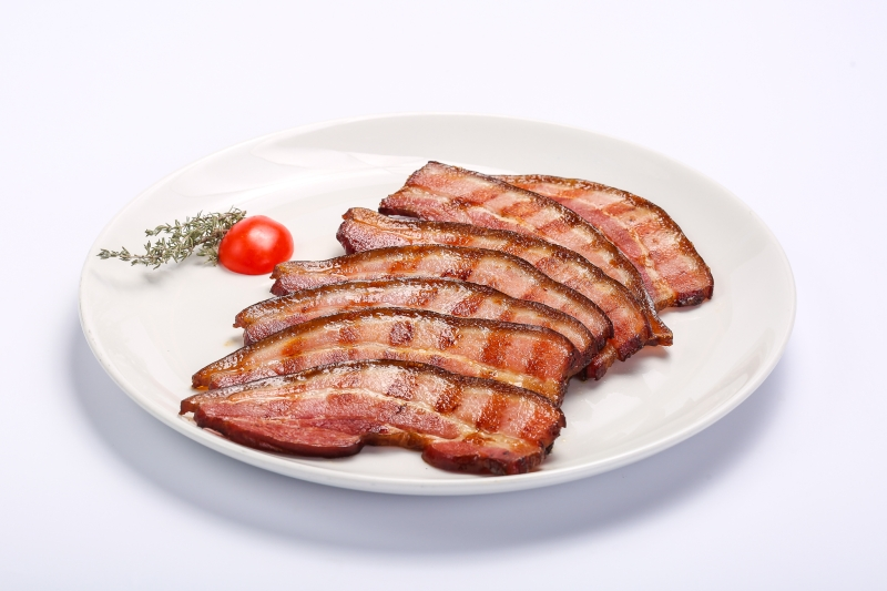 Barbecued bacon